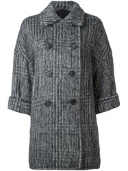 Brunello Cucinelli Double Breasted Coat Grey