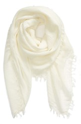 Treasure And Bond Solid Fringed Scarf Ivory