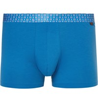 Derek Rose Stretch Cotton Boxer Briefs Blue