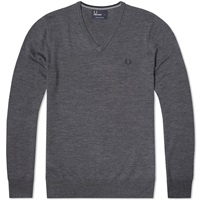 Fred Perry Classic V Neck Sweater Graphite Marl