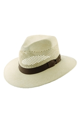 Scala Panama Straw Fedora Natural