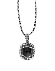 Effy Eclipse Black Onyx And Sterling Silver Pendant Necklace
