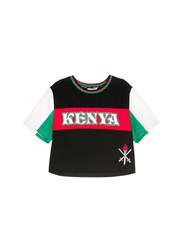 Opening Ceremony Global Varsity Cropped T Shirt Kenya Multi Colour
