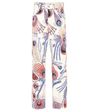 Dries Van Noten Printed Straight Leg Jeans Multicoloured