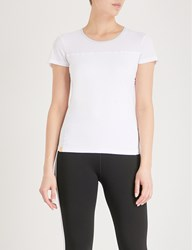 Monreal London Perforated Jersey Top White Frost