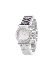 Chopard 'Happy Sport' Analog Watch Metallic