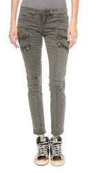 Blank Skinny Cargo Pants With Zipper Detail Not The Boss Of Me