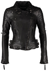 Freaky Nation Glory Leather Jacket Schwarz Black