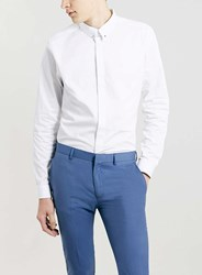 Topman Premium White Pin Collar Long Sleeve Smart Shirt
