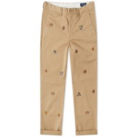 Polo Ralph Lauren Varsity Embroidered Chino Brown