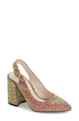 Shellys Women's London 'Chester' Slingback Glitter Pump Gold Glitter