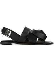 Tod's Bow Detail Slingback Sandals Black