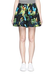 Marc Jacobs 'Paradise' Parrot Print Cotton Poplin Shorts Multi Colour