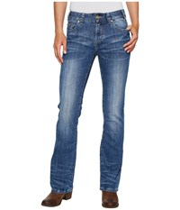 Rock And Roll Cowgirl Mid Rise Bootcut In Medium Vintage W1 2350 Medium Vintage Women's Jeans Blue