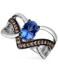 Le Vian Ocean Wave Tanzanite 1 Ct. T.W. And Diamond 1 3 Ct. T.W. Ring In 14K White Gold