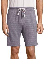 Sol Angeles Stiped Cotton Blend Shorts Heather
