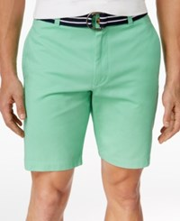 Club Room Men's Flat Front Cotton Shorts Only At Macy's Neptune Beso