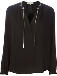 Michael Michael Kors Chain Detail Blouse Black