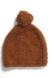 Vince Teddy Wool And Cashmere Blend Pom Beanie Brown Ginger