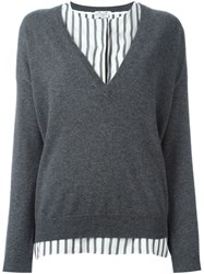 Brunello Cucinelli Layered Sweater Grey