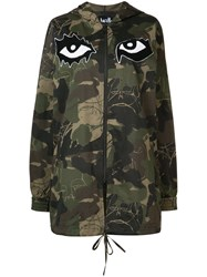 Haculla Camouflage Printed Hooded Coat Green