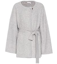 See By Chloe Cotton And Wool Blend Cardigan Grey