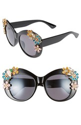 Leith Women's 55Mm Floral Embellished Cat Eye Sunglasses