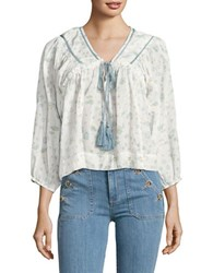 Free People Never A Dull Moment Peasant Blouse White