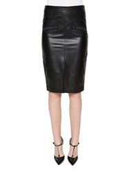 Tom Ford Leather Pencil Skirt Black