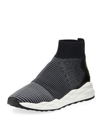 Ash Spot Stretch Sock High Top Sneaker Charcoal