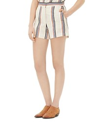 Sandro Pessy Striped Shorts Ecru