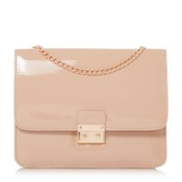 Head Over Heels Bess Square Lock Chain Strap Bag Nude