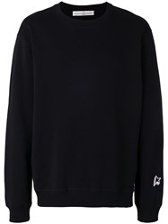 Golden Goose Deluxe Brand Embroidered Sweatshirt Black