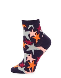 Happy Socks Star Anklet Purple Pink