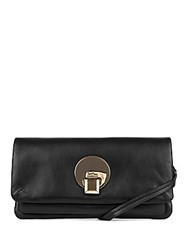 Kooba Opal Leather Convertible Clutch Black