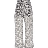 River Island Womens Black Print Lace Trousers