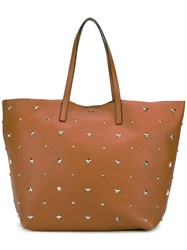 Red Valentino Star Studded Tote Nude Neutrals