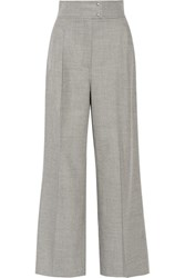 Barbara Casasola Stretch Cashmere And Wool Blend Wide Leg Pants Gray
