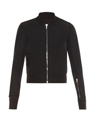 Rick Owens Sleeve Pocket Bomber Jacket Black