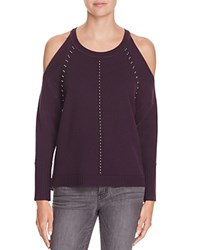 Ramy Brook Maya Cold Shoulder Sweater Merlot