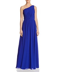Laundry By Shelli Segal One Shoulder Goddess Gown 100 Exclusive Cobalt
