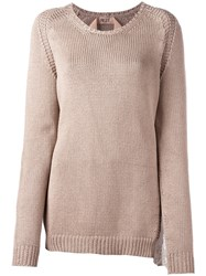 N 21 No21 Knitted Sweater Nude Neutrals