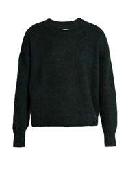 Etoile Isabel Marant Clifton Mohair Blend Sweater Dark Green