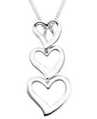Giani Bernini Sterling Silver Pendant Triple Open Heart
