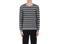 Michael Kors Men's Striped Rib Knit Sweater Grey Black