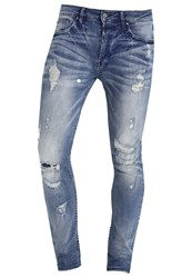 Tigha Morten Slim Fit Jeans Light Blue Ripped Light Blue Denim