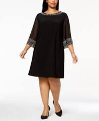 Msk Plus Size Embellished Shift Dress Black