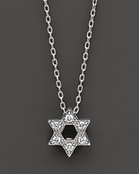 Roberto Coin 18 Kt. White Gold Diamond Star Of David Necklace No Color