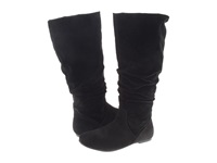 Rsvp Wynona Extra Wide Calf Black Micro Suede Women's Dress Pull On Boots