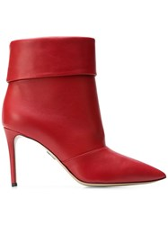 Paul Andrew Banner Ankle Boots Red